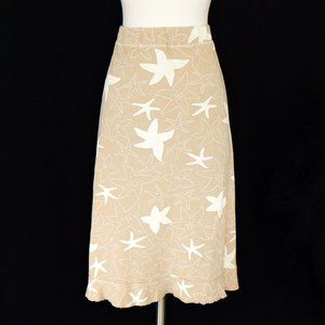Fresh Produce Tan Starfish Ruffle Hem Skirt Sz XL